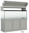 "Classic Aquarium Canopy with 12"" Front Lift Option Color Gray"