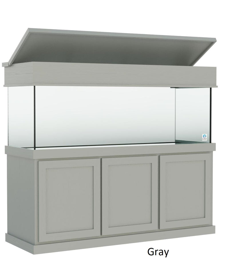 "Classic Aquarium Canopy with 8"" with a top lift gray color"