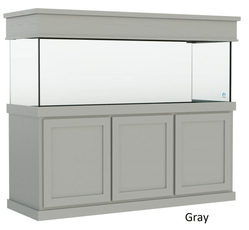 Classic style Aquarium Stand fits 180 gallon or 215 gallon tanks painted Gray
