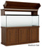 "Classic Aquarium Canopy with 12"" Front Lift Option Stained Medium Oak"