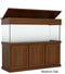 "Classic Aquarium Canopy with 8"" with a top lift stained Medium Oak"