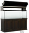 "Classic Aquarium Canopy with 12"" Front Lift Option Stain selection Mocha"