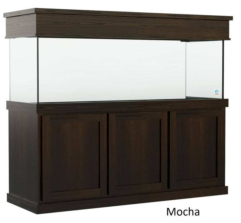 Classic style Aquarium Stand fits 180 gallon or 215 gallon tanks Stained Mocha