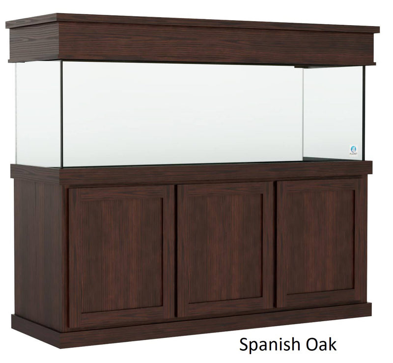 Classic style Aquarium Stand fits 180 gallon or 215 gallon tanks Stained Spanish Oak