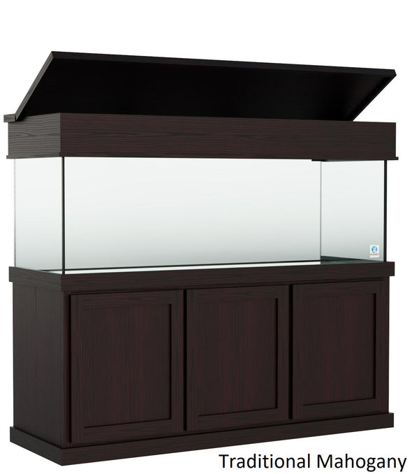 "Classic Aquarium Canopy with 8"" with a top lift Stained Traditional Mahogany"