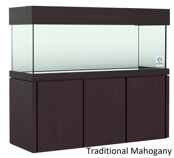 "Elegance Stand 60.5"" by 24.5"" fits 150 gallon or 170 gallon stained Traditional Mahogany"