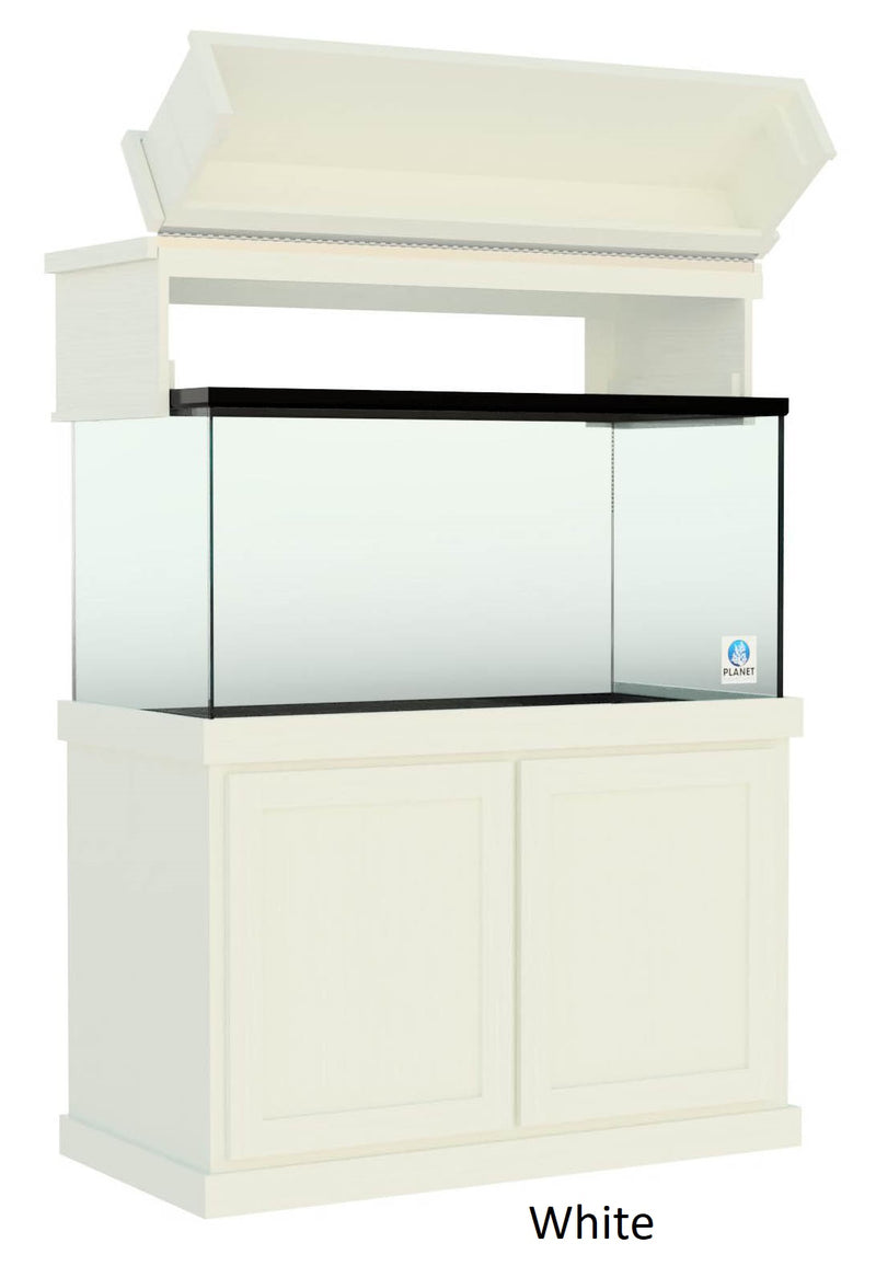 "Classic Aquarium Canopy with 12"" Front Lift Option Painted White"