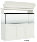 "Classic Aquarium Canopy with 12"" Front Lift Option Color White"