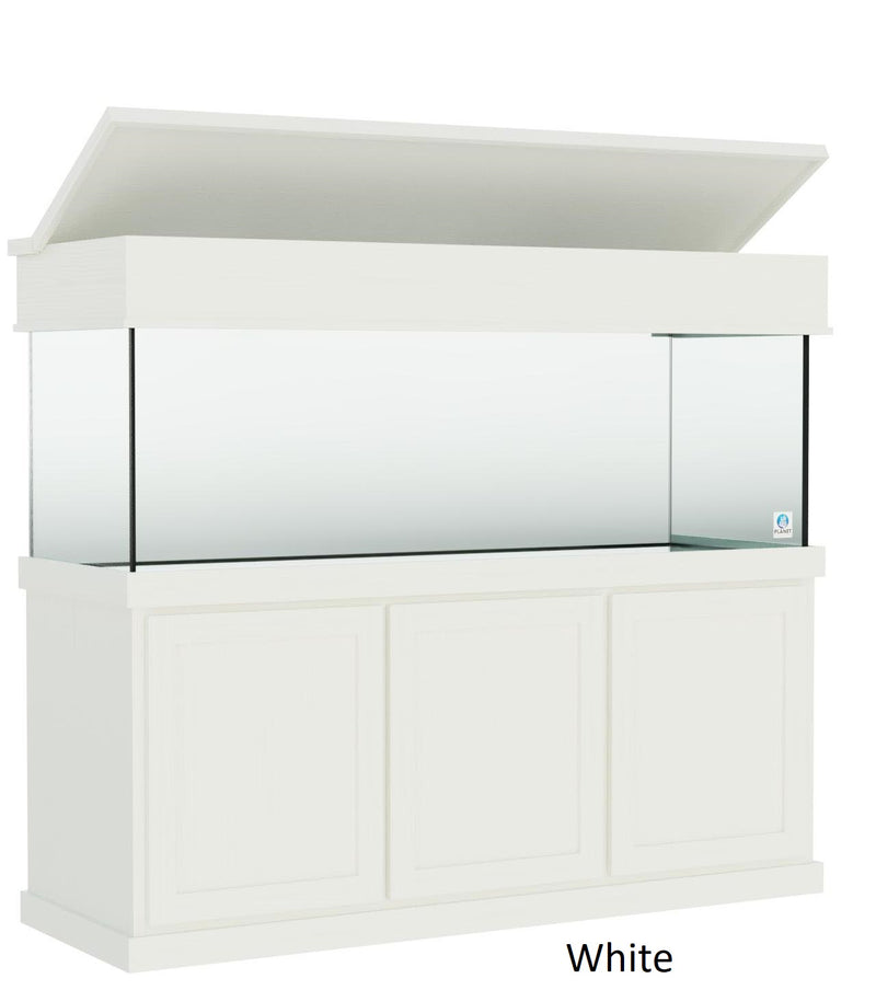 "Classic Aquarium Canopy with 8"" with a top lift color white"