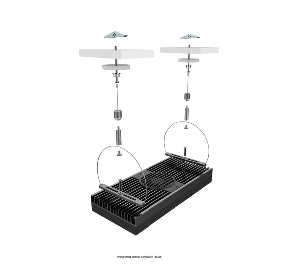The EXT Hanging Kit allows you to hang one AI Hydra single module.