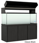 "Elegance Aquarium Canopy with 12"" with a Front Lift fits 180 gallon and 215 gallon tanks Stained Black"