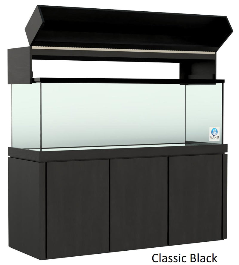 "Elegance Aquarium Canopy with 12"" with a Front Lift fits 150 gallon and 175 gallon tanks Stained Black"