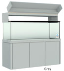 "Elegance Aquarium Canopy with 12"" with a Front Lift fits 150 gallon and 175 gallon tanks painted gray"