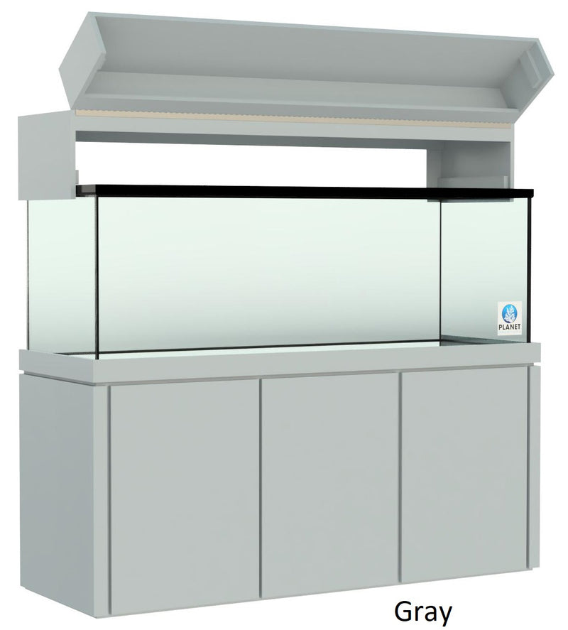 "Elegance Aquarium Canopy with 12"" with a Front Lift fits 180 gallon and 215 gallon tanks painted gray"