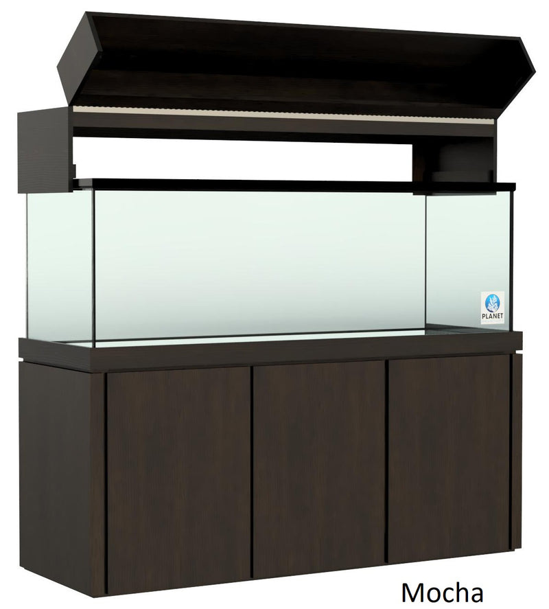 "Elegance Aquarium Canopy with 12"" with a Front Lift fits 180 gallon and 215 gallon tanks Stained Mocha"