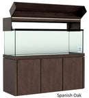 "Elegance Aquarium Canopy with 12"" with a Front Lift fits 180 gallon and 215 gallon tanks Stained Spanish Oak"