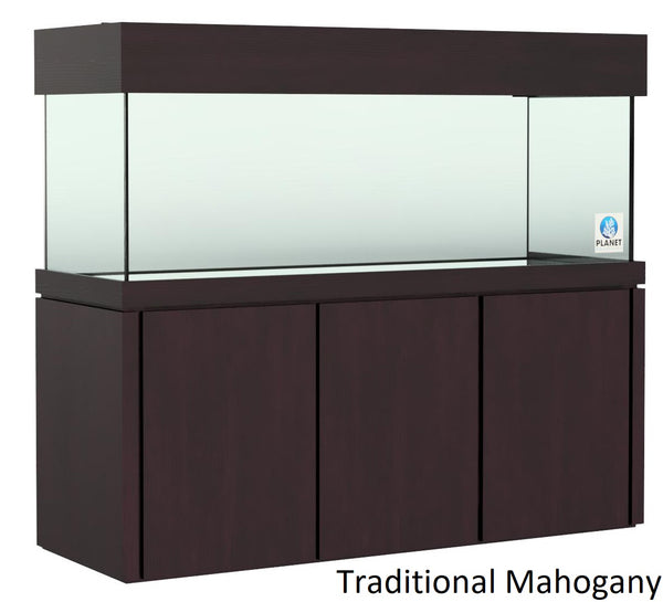 "Elegance Stand 72.5"" by 24.5"" fits 180 gallon or 215 gallon stained Traditional Mahogany"