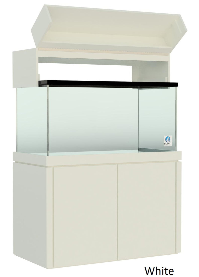 "Elegance Aquarium Canopy with 12"" with a Front Lift fits 120 gallon and 140 gallon tanks panited white"