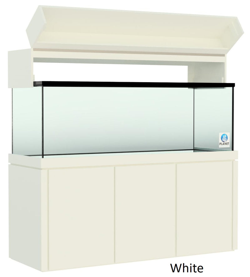 "Elegance Aquarium Canopy with 12"" with a Front Lift fits 180 gallon and 215 gallon tanks painted white"