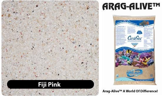 CaribSea Saltwater Substrate - Arag-Alive Fiji Pink 20 pounds