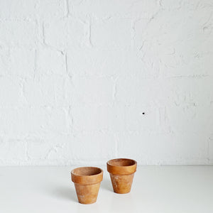 Flower Pots (pair) - Vintage - Small