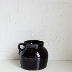 Dark Brown / Purple Jug - Vintage - Medium