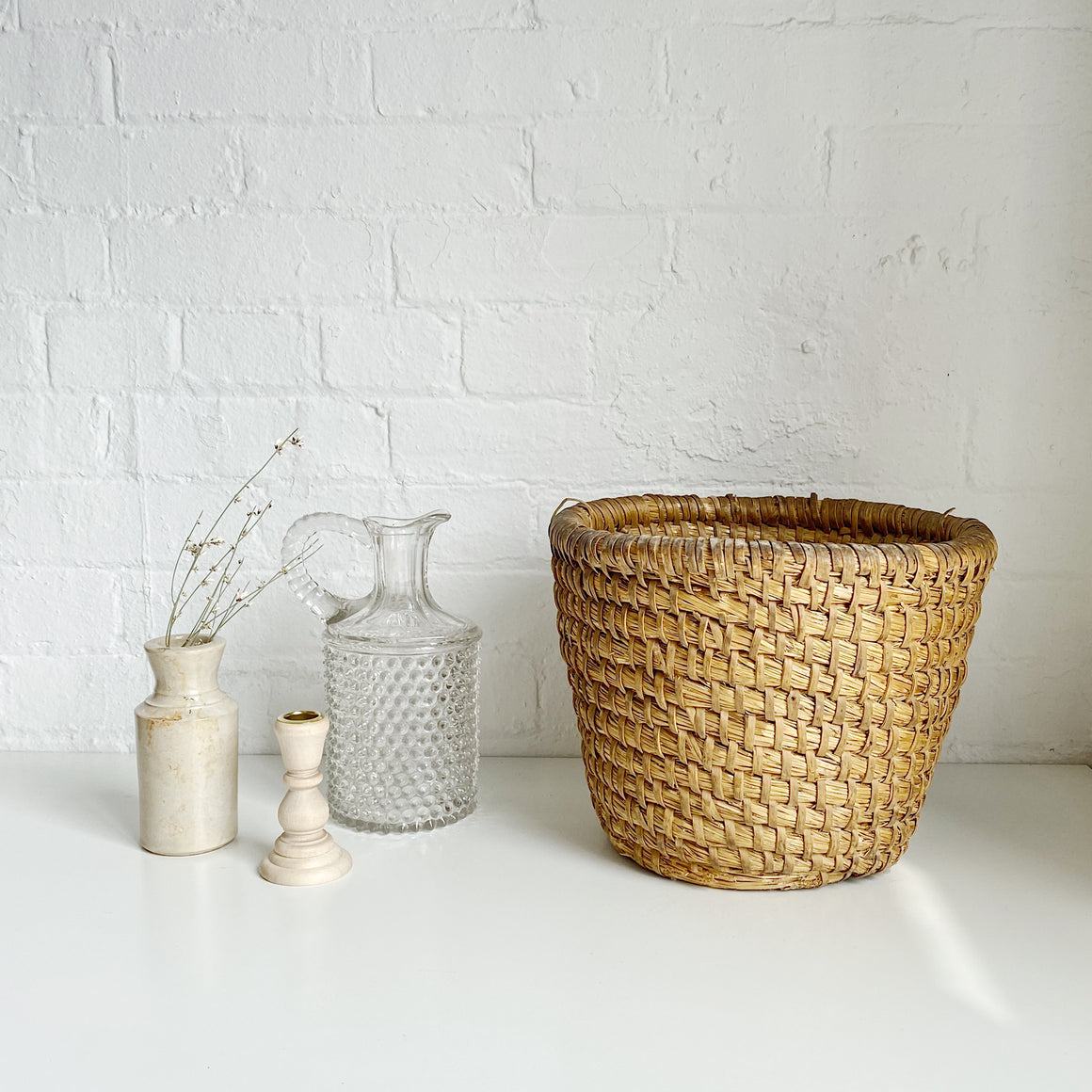 Woven Basket - Vintage - Medium