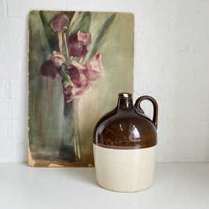 Two Tone Brown Jug - Vintage - Large