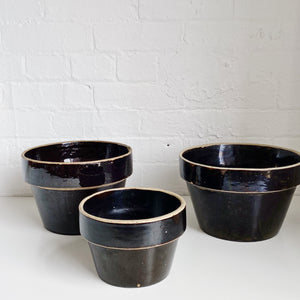 Brown Pot - Vintage - 3 Sizes