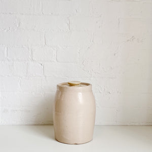 Blush Pink Cookie Jar - Vintage - Medium