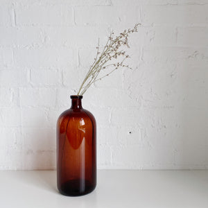 Brown Glass Jar - Vintage - Medium