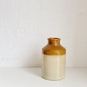 Two Tone Light Brown Jug - Vintage - Medium