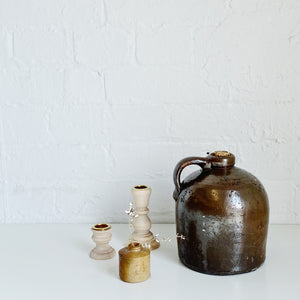 Brown Jug with Cork - Vintage - Medium