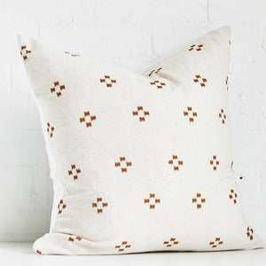 Rust and Cream Throw Pillow Case - Exclusive by AMD