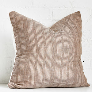 Brown Stripped Throw Pillow Case - Exclusive by AMD