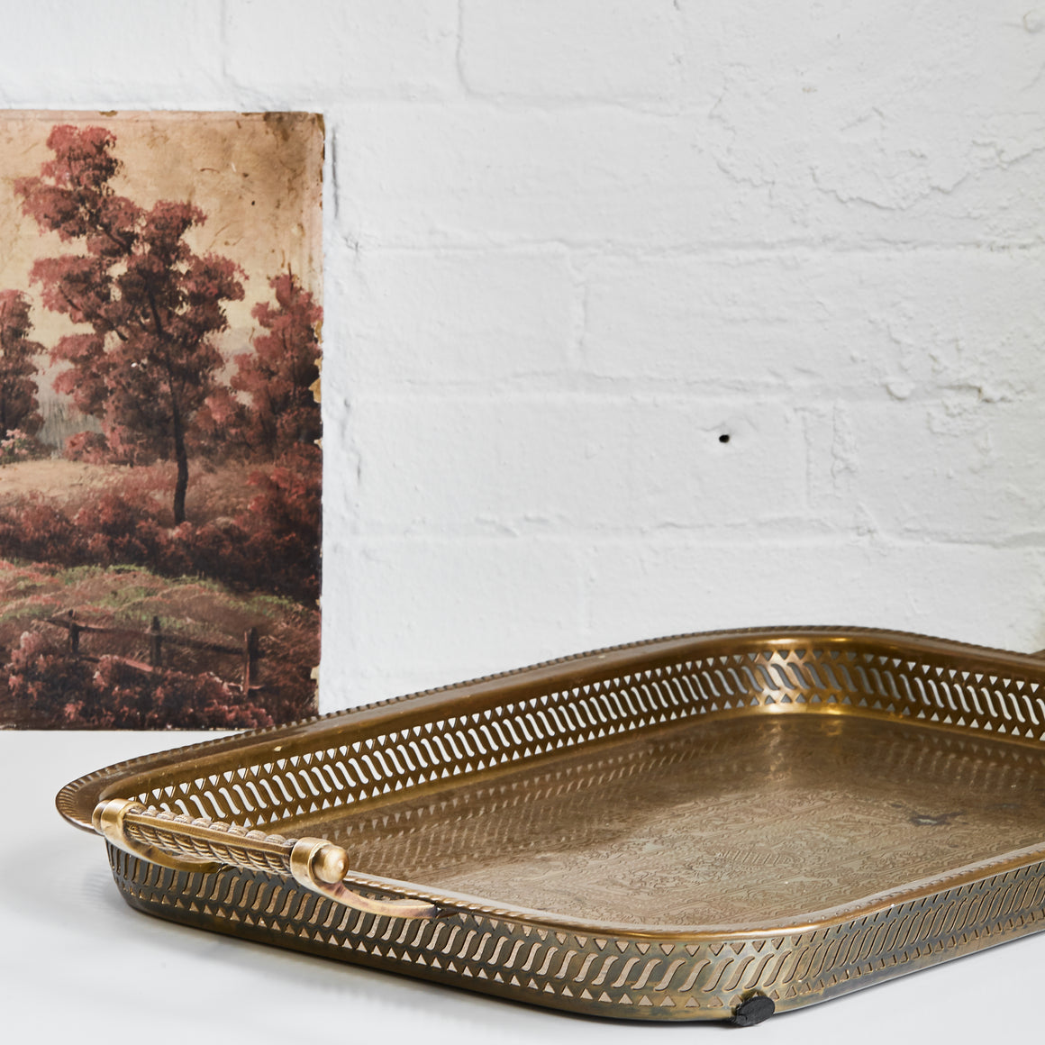 Brass Serving Tray - Vintage - Large