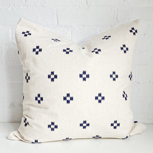 Navy and Cream Throw Pillow Case - Exclusive by AMD