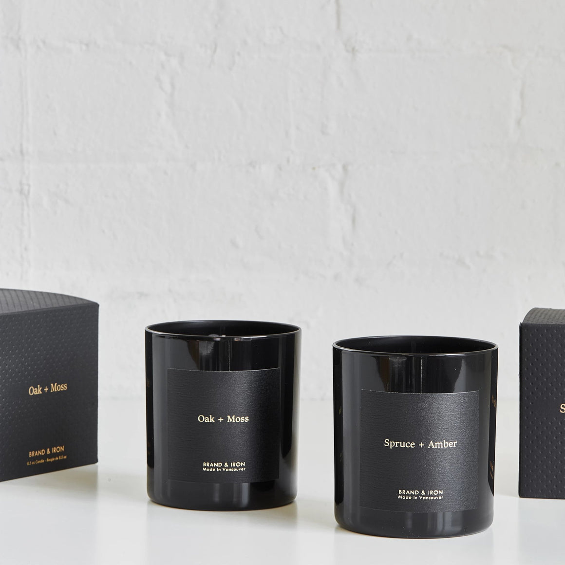 Spruce + Amber Candle by Brand & Iron