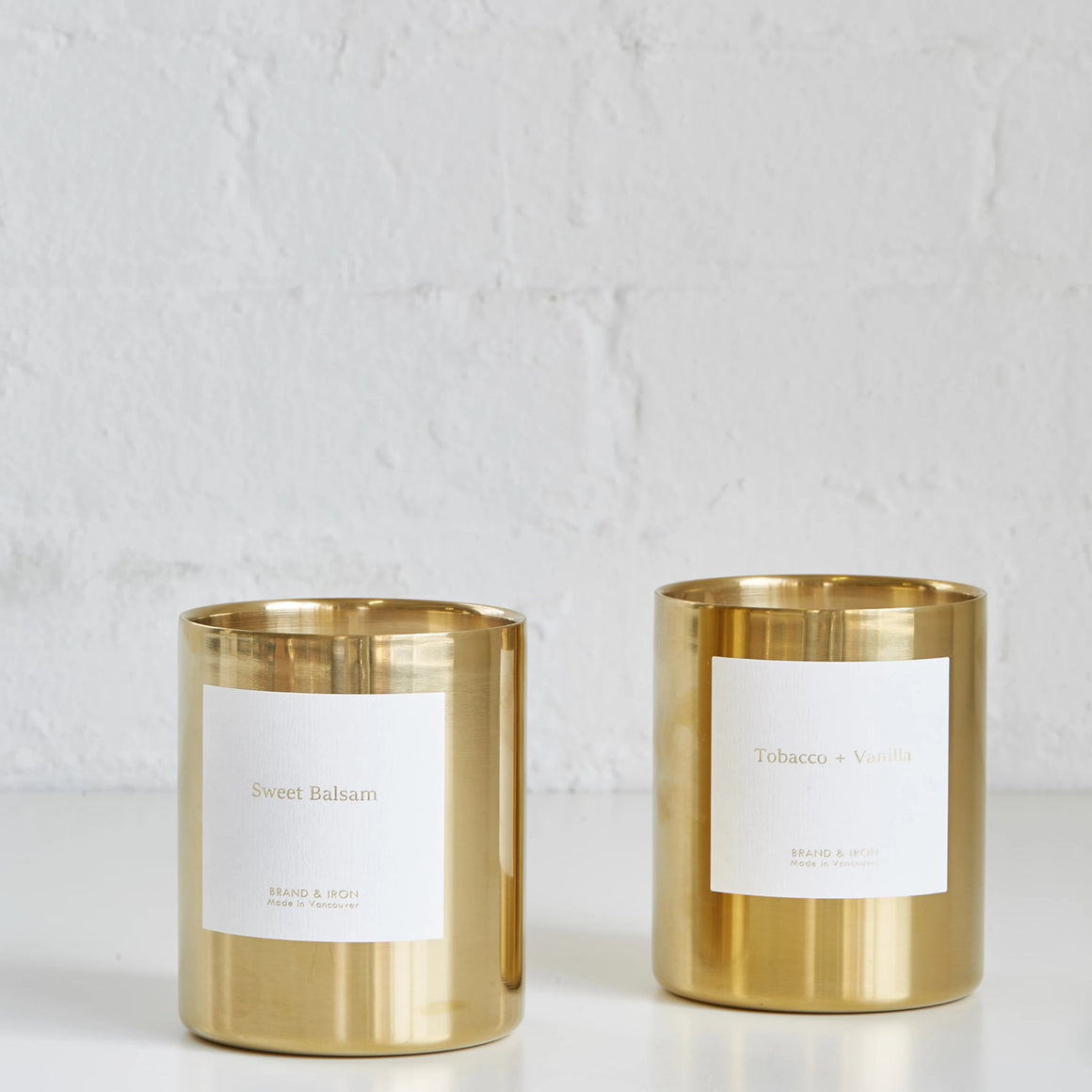 Tobacco + Vanilla Candle by Brand & Iron