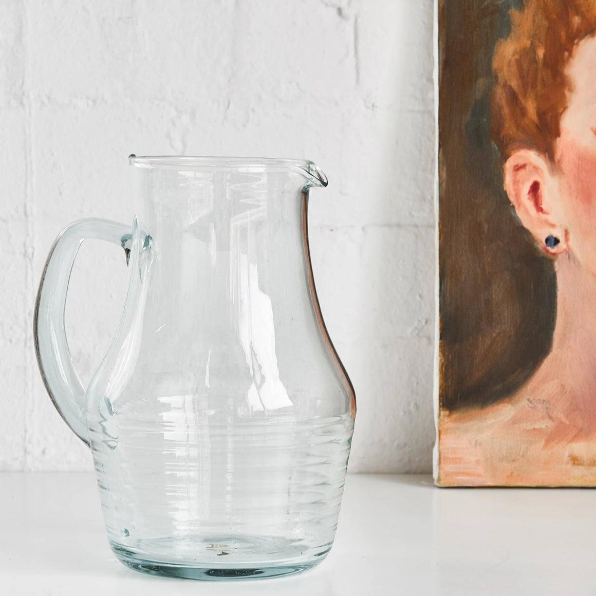 Recycled Glass Rings Pitcher