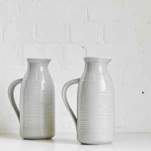 Stoneware Pitcher Light Gray