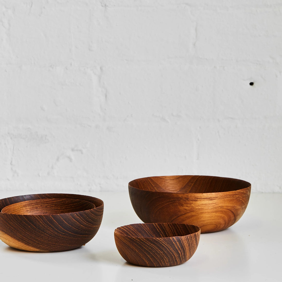 Teak Nesting Bowls, Set of 4