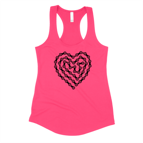 I HEART MY BICYCLE (ladies tank)