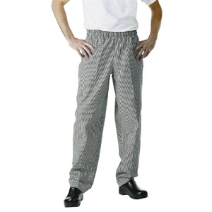 Click N Order photo of a Chef Works Essential Baggy Pants Small Black Check S