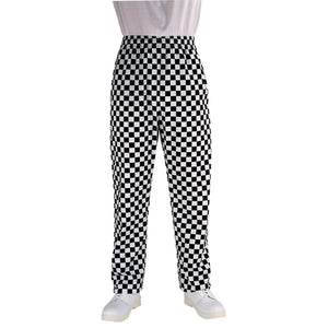 Click N Order photo of a Chef Works Essential Baggy Pants Big Black Check M