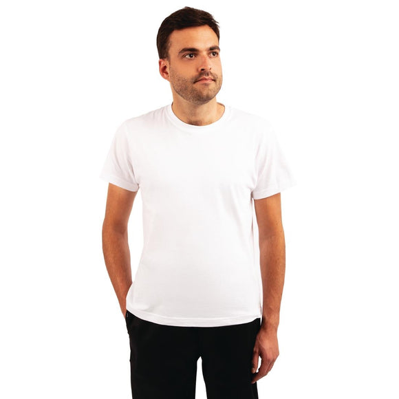 Click N Order photo of a Unisex Chef T-Shirt White 3XL