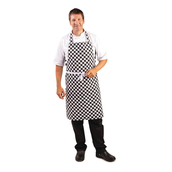 Click N Order photo of a Whites Bib Apron Black and White Check