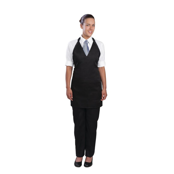 Click N Order photo of a Chef Works Tuxedo Bib Apron Black