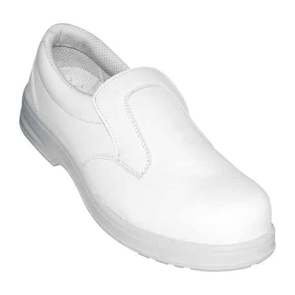 Click N Order photo of a Lites Unisex Safety Slip On White Size 46