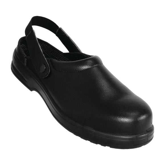 Click N Order photo of a Lites Unisex Safety Clogs Black 39